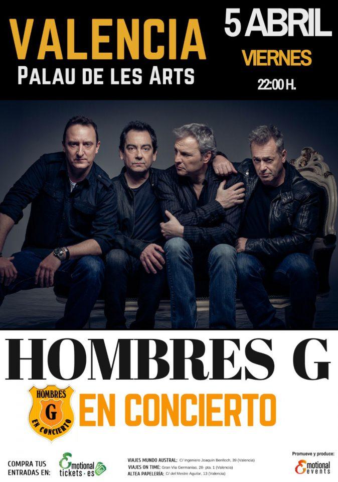 Hombres G concierto en el Palau de les Arts