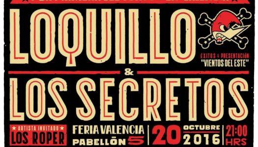 Concierto Loquillo + Los Secretos en Valencia. ¡Consigue tus entradas más baratas en Hello Valencia!