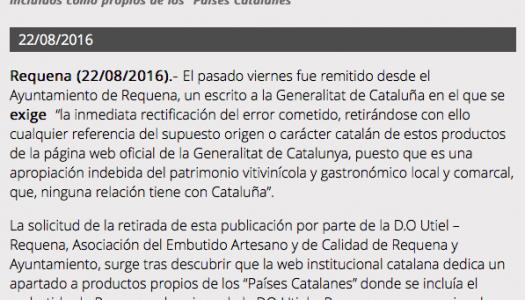 """El vino D.O. Utiel-Requena y el embutido de Requena, de los """"països catalans"""""""
