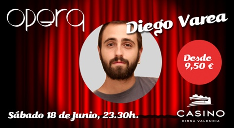 Diego Varea ofrece humor y música en Casino Cirsa Valencia