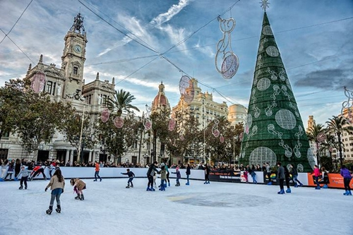 Pista de hielo Ayuntamiento Valencia