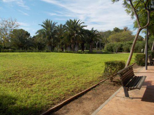 Amplios espacios de hierba para descansar