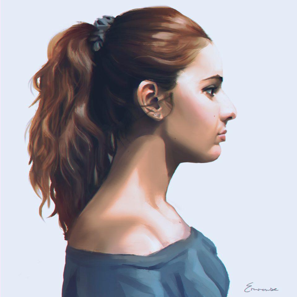 Autorretrato de Eva Rowse