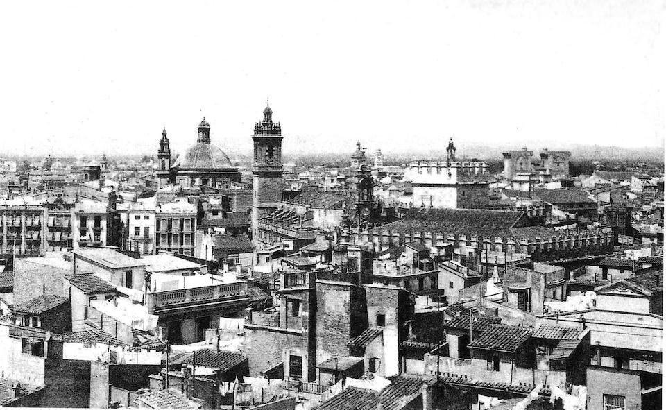 Panorámica de Valencia antigua