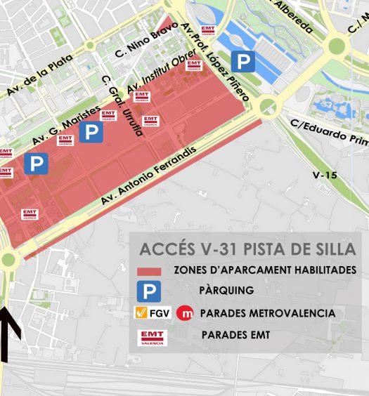 centro urbano de Valencia
