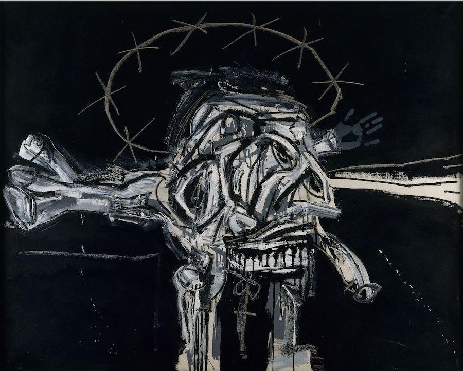 Exposiciones en Valencia. Crucifición-1959-Antonio-Saura.-Colección-del-IVAM