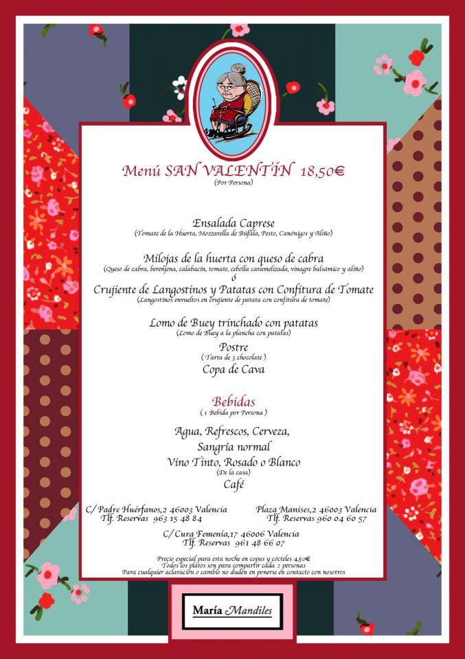Menú para San Valentín