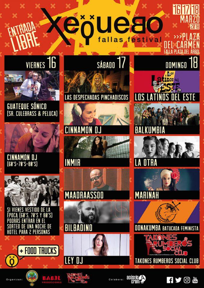 Cartel Xequebo Fallas Festival 2018