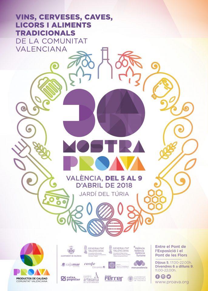 PROAVA, Productos de Calidad de la Comunitat Valenciana, ha presentado la 30 edición de la conocida Mostra de Vins i Aliments