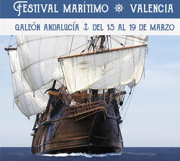 El Galeón Andalucía atraca en La Marina de Valencia