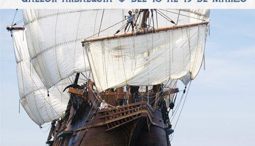 El Galeón Andalucía amarra en La Marina de València