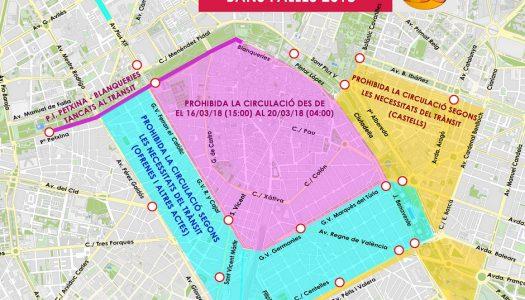 RESTRICCIONES A LA CIRCULACIÓN DURANTE LAS FALLAS 2018