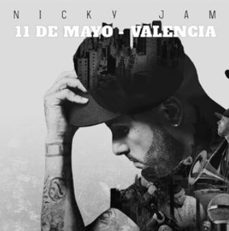 Nicky Jam 11 de mayo en Valencia