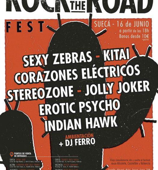 Rock on the Road Fest Sábado 16 junio en Sueca, Valencia.