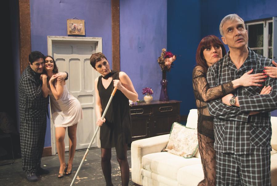 """La comedia """"No te vistas para cenar"""" estará en el Teatro Flumen hasta el 15 de abril"""