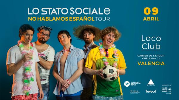 cartel para el concierto de Lo Stato Sociale