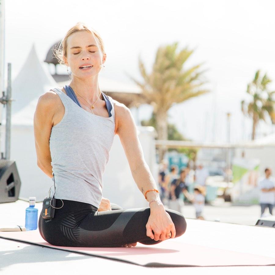 Verónica Blume en la primera edición de Big Yoga Festival en Valencia