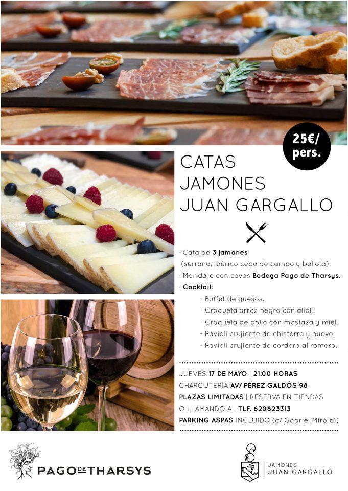 Cartel cata Jamones Juan Gargallo