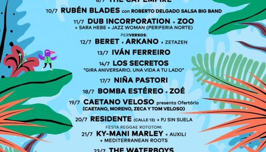 Vuelven los Conciertos de Viveros: ¡cartel edición 2018!