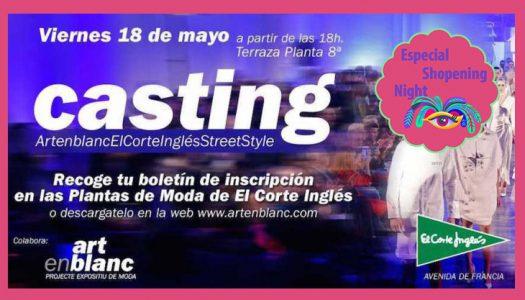 Desfile de moda por parte de Artenblanc y El Corte Inglés con motivo de la Shopening Night Caixa Popular