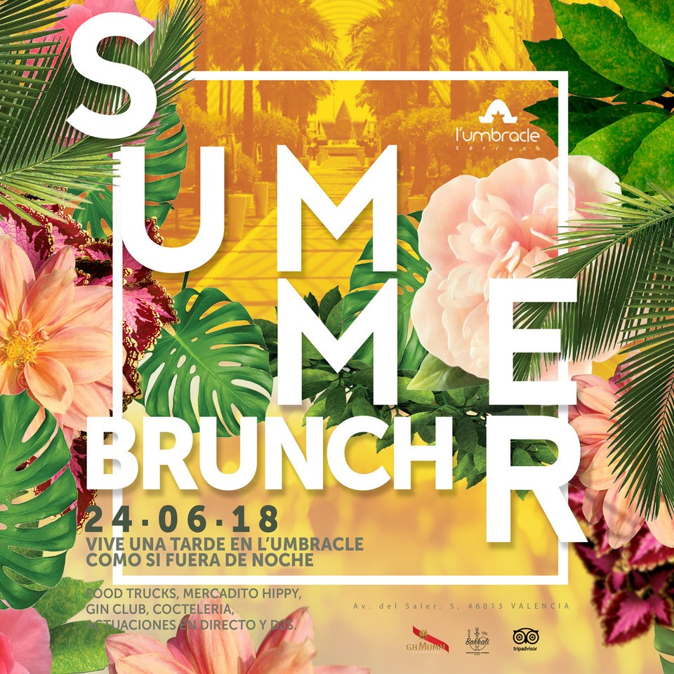 summer brunch en Umbracle