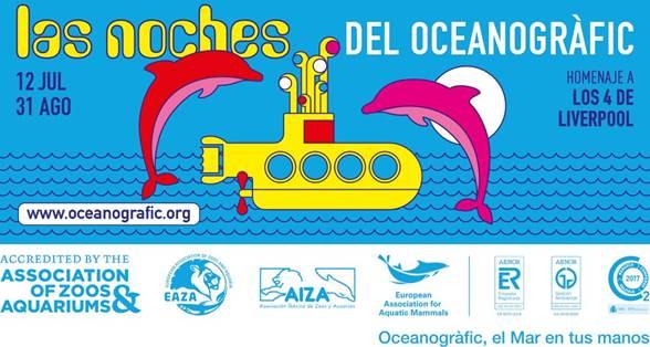 Las Noches del Oceanogràfic 2019 presenta las características de la nueva propuesta artística que comienza el próximo viernes a partir de las 22:30 y acaba el 31 de agosto.