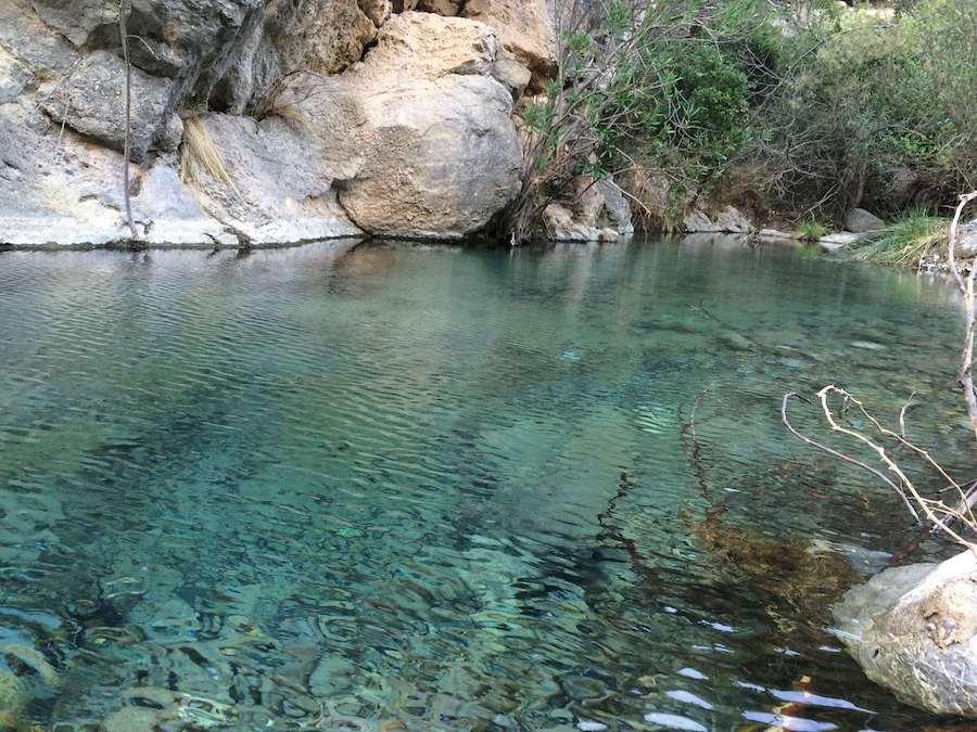 Nacimiento Del Río Lucena, zonas de río
