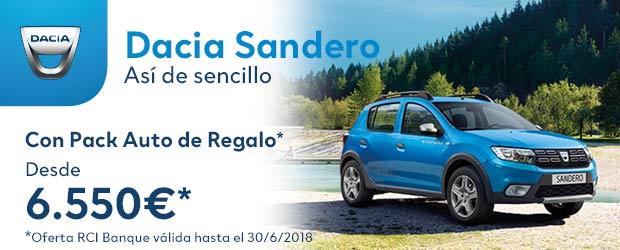 dacia SANDERO JULIO 620×250