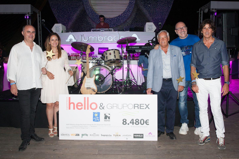 HELLO VALENCIA RECAUDA 8.480€ EN FAVOR DE FUNDACIÓN PEQUEÑO DESEO Y MODEPRAN EN LA SUMMER VILLAGE PARTY