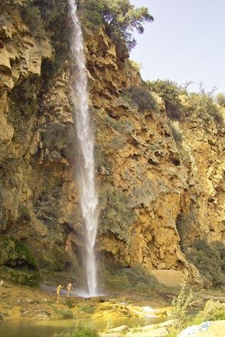 Salto de la Novia, zonas de río
