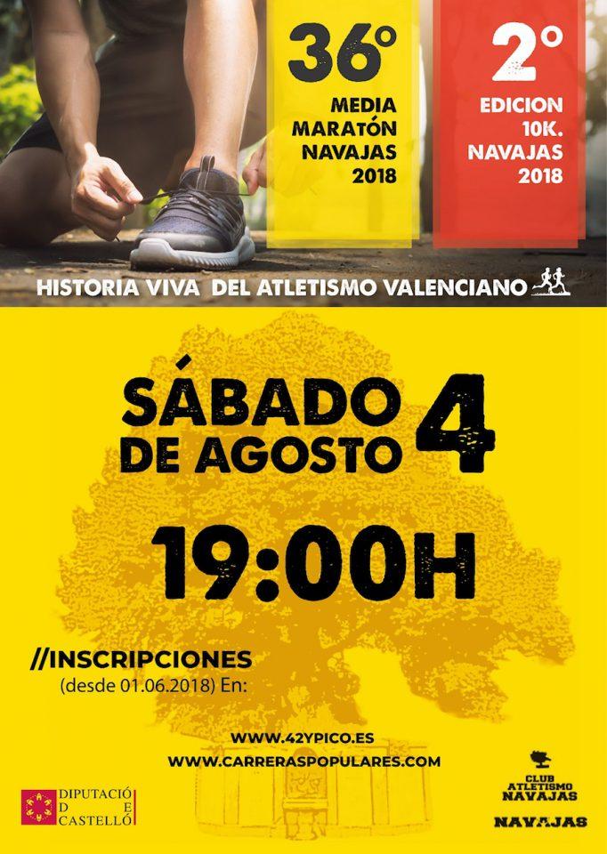 cartelera media maratón de Navajas, 4 agosto 2018