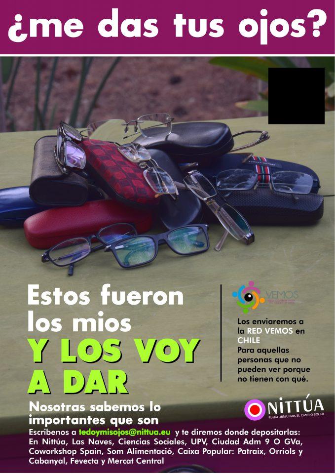 El Mercado Central, con ¿Me das tus ojos?, una campaña de donación de gafas a Chile