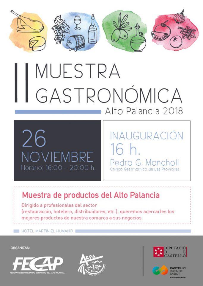 II Muestra Gastronómica del Alto Palancia 2018