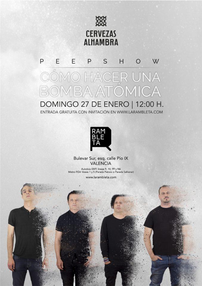 """La banda valenciana Peepshow presenta en Espai Rambleta """"Cómo hacer una bomba atómica"""", su nuevo álbum de estudio."""