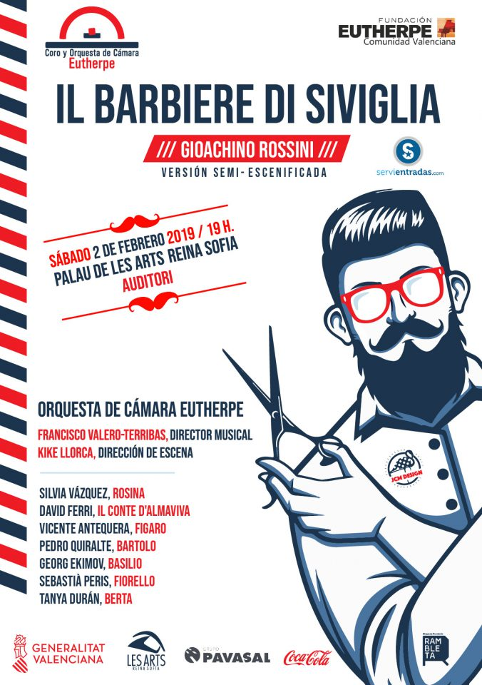 El Coro y la Orquesta Eutherpe escenificarán el 'El Barbero de Sevilla' en Les Arts