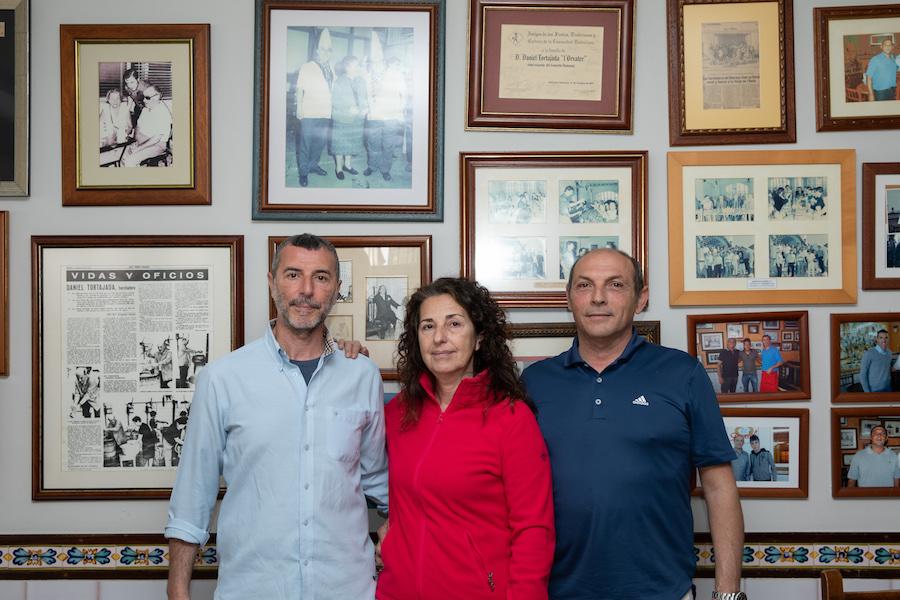 Daniel Tortajada, Carmen Tortajada, Toni Peinado. Horchatería Daniel Alboraia