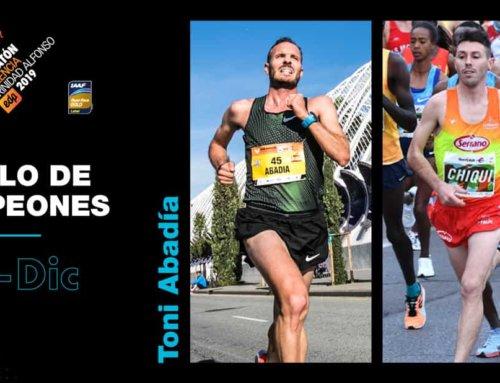 Los fondistas Toni Abadía y Chicki Pérez en el Maratón Valencia 2019