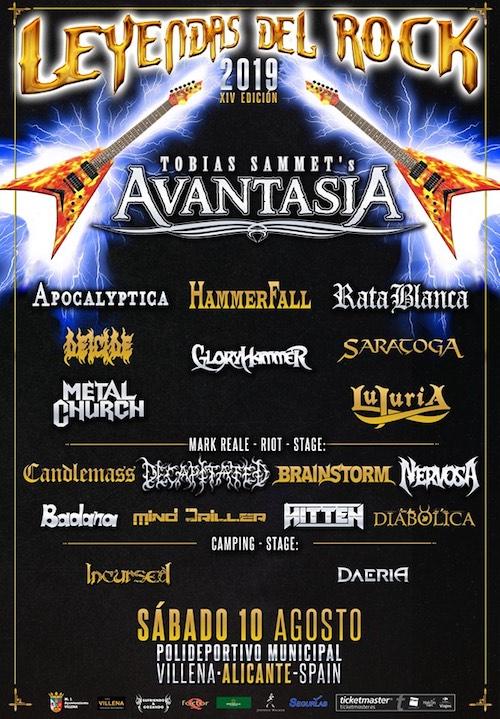 Leyendas del Rock, el famoso festival de música heavy metalyrock duro, se celebrará este año los días 7,8,9 y 10 de agosto en la localidad alicantina de Villena.
