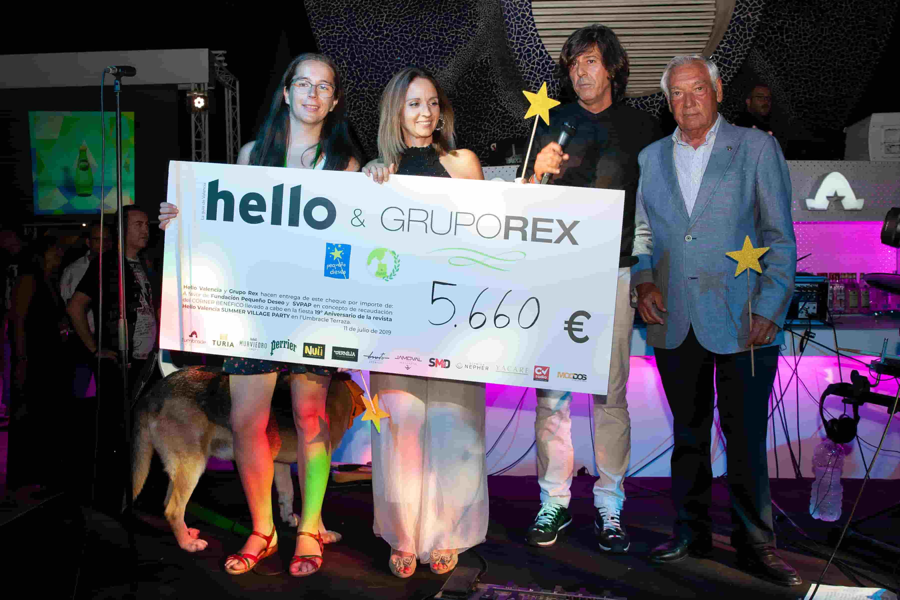 Cena Benéfica Hello Valencia y Grupo Rex