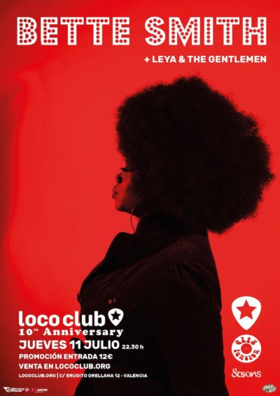 La ciudad de Valencia será testigo de la propuesta de Bette Smith. La norteamericana e inconfundible artista de Brooklyn, intérprete de soul y rhythm & blues, llega a Valencia el próximo 11 de julio.