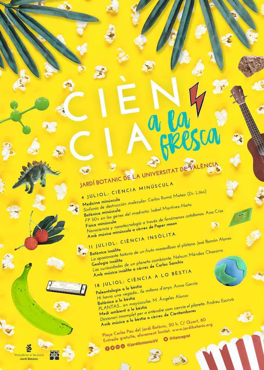 La ciencia ha ido tomando la calle, y los lugares de ocio, buscando nuevos formatos y espacios para acercarse a la ciudadanía, por eso el Botánico se suma con Ciència a la fresca.