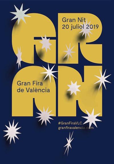 La Gran Nit de Juliol 2019 llenará de cultura y actividades las calles y plazas de la ciudad de Valencia el próximo sábado 20 de julio.