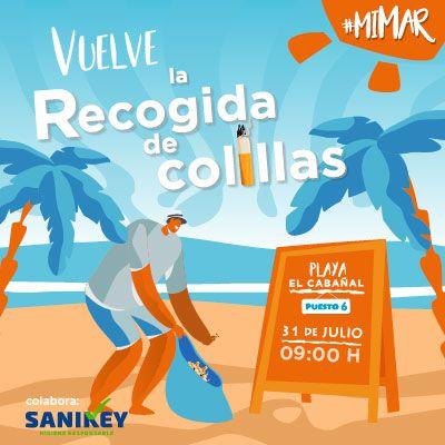 La empresa valenciana Mar y Sombra ha impulsado una nueva recogida de colillas, que tendrá lugar el próximo miércoles 31 de julio en la playa del Cabanyal.