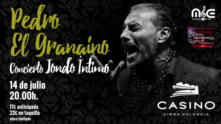 'El granaíno' actuará el próximo 14 de julio a las 20 horas en la sala de conciertos del casino valenciano Cirsa Valencia.