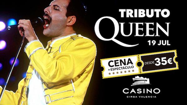 Tras el éxito del pasado mes de diciembre, Casino Cirsa Valencia vuelve a homenajear al grupo de Freddie Mercury.