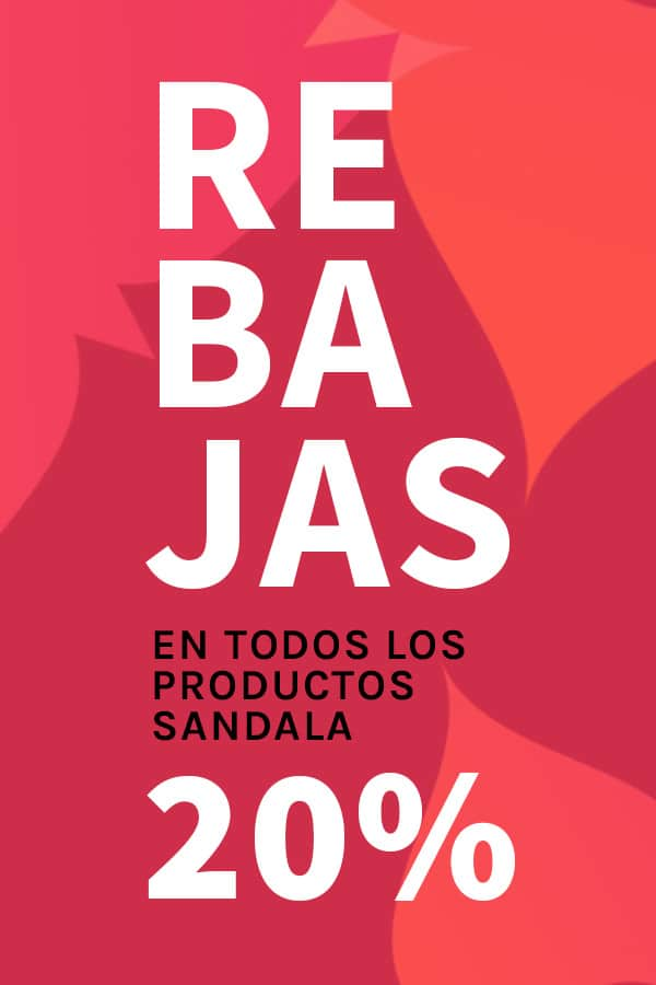 REBAJAS SANDALA 20%