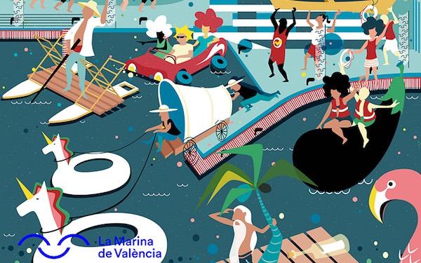 El sábado 6 de julio a partir de las 11h comenzará Barcos Locos, una divertida competición de artefactos flotantes abierta al público que se desarrollará frente a la nueva piscina natural.