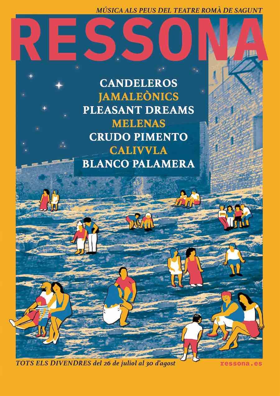 Las guitarras y los tambores de la banda Candeleros abren este viernes 26 de julio la nueva edición del festival Ressona de Sagunt.