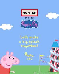 Hunter Original se ha asociado con Entertainment One en una colección de calzado y accesorios de edición limitada para niños con Peppa Pig.