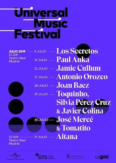 El próximo viernes comienza laV edición de Universal Music Festival 2019que se celebrará del1 al 31 de julio en el Teatro Real de Madrid.